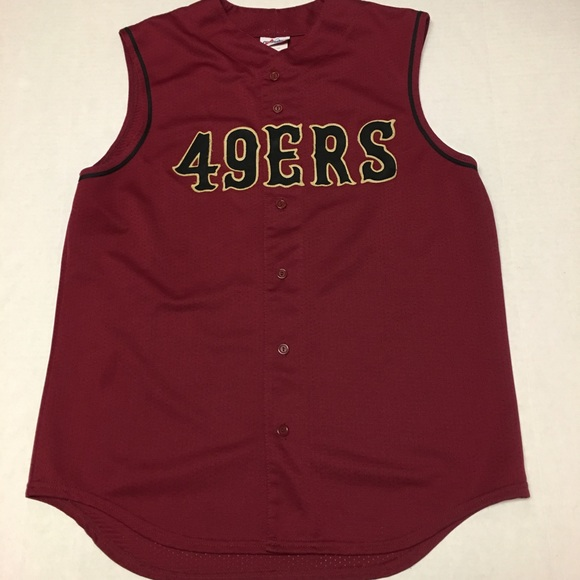 competitive price b112b d054f Vintage nfl majestic Logo 49ers baseball jersey